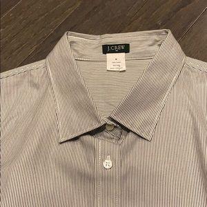 J. Crew Factory Button Down Shirt Striped M